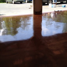 Columbus Metallic Epoxy Garage Floor