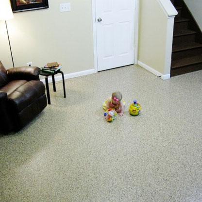 Decorative Epoxy Basement Floor